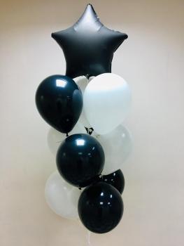 """Воздушные шары """"Черная звезда"""""""