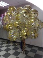 """Воздушные шары """"Золотые звезды"""""""